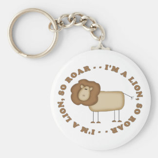 I'm A Lion...So Roar Basic Round Button Key Ring