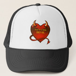 I'm a little devil trucker hat