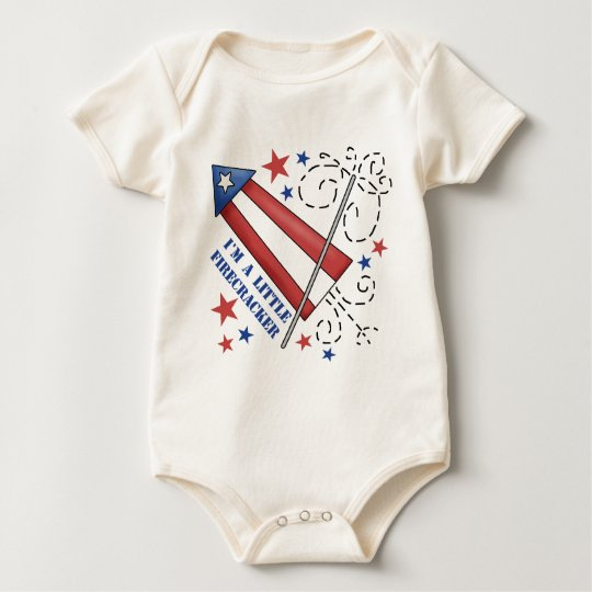 I'm A Little Firecracker Baby Baby Bodysuit