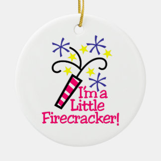 Im a Little Firecracker Christmas Ornament