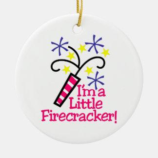 Im a Little Firecracker Round Ceramic Decoration