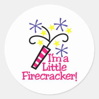 Im a Little Firecracker Round Sticker