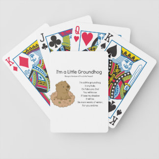 I'm a Little Groundhog Bicycle Playing Cards