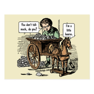 I'm a Little Hoarse! Horse Pun Postcard