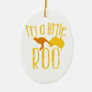I'm a little roo baby maternity cute design ceramic oval decoration