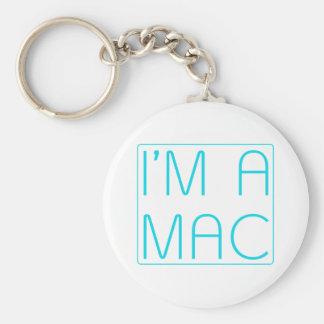 im a mac basic round button key ring