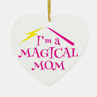 I'm a MAGICAL Mom! with wizard wand Christmas Ornament