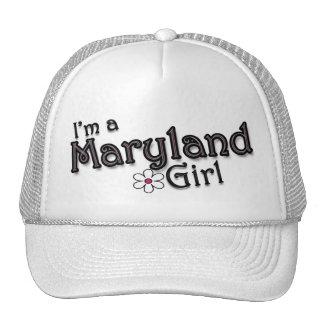I'm a Maryland Girl, Flower, Ladies Baseball Cap Mesh Hat