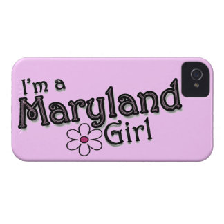I'm a Maryland Girl, Flower, Pink iPhone Cover iPhone 4 Cases