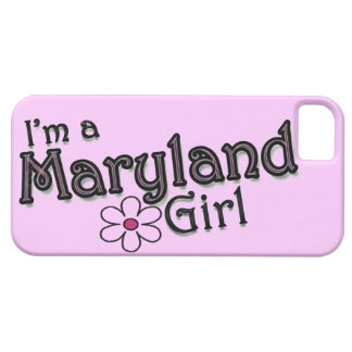 I'm a Maryland Girl, Flower, Pink iPhone Cover iPhone 5 Cases