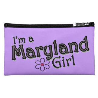 I'm a Maryland Girl, Flower, Purple Bagettes Bag Makeup Bags