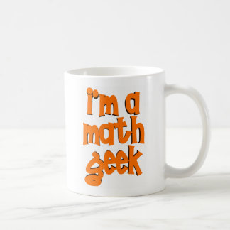 I'm a math geek basic white mug
