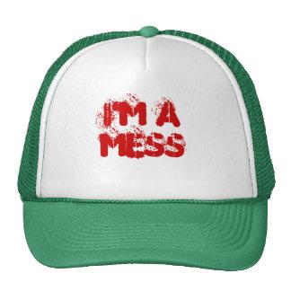 I'M A MESS TRUCKER HAT