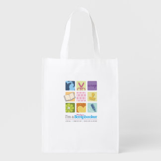 """I'm a Michigan Scrapbooker"" reusable bag! Reusable Grocery Bag"