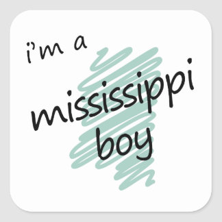I'm a Mississippi Boy Square Sticker