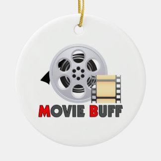 I'm A Movie Buff Round Ceramic Decoration