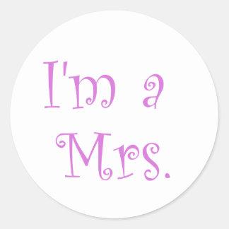 I'm a Mrs. Round Sticker