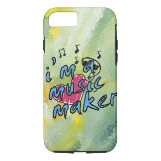 i'm a music maker brush design apple iphone case