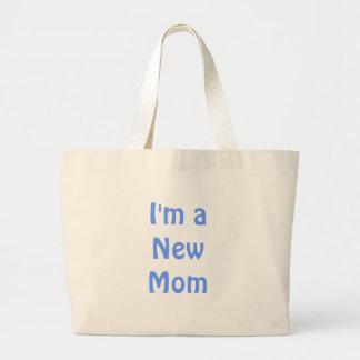 I'm a New Mom. Blue. Bag