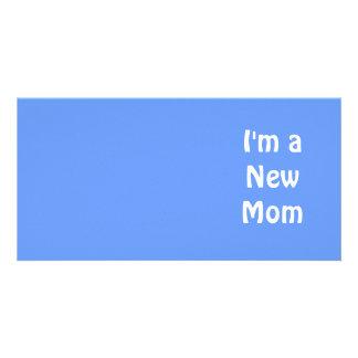 I'm a New Mom. Blue. Photo Cards