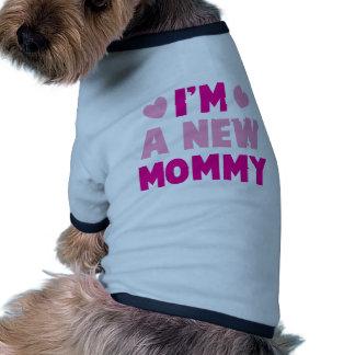 I'm a NEW MOMMY! Ringer Dog Shirt