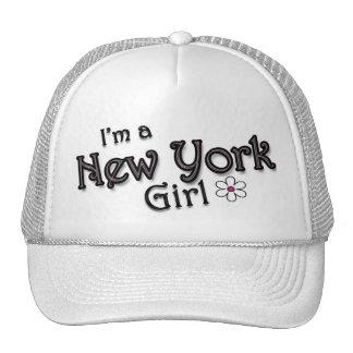 I'm a New York Girl, Flower, Ladies Baseball Cap Mesh Hat