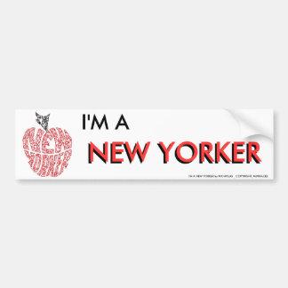 I'M A NEW YORKER BUMPER STICKER