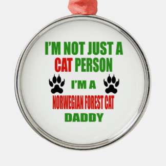 I'm a Norwegian Forest Cat Daddy Christmas Ornament