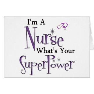 I'm A Nurse Greeting Card