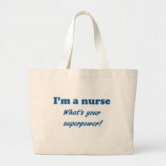 I'm a Nurse What's Your Super Power Nursing Gift Jumbo Tote Bag