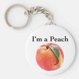 I'm a Peach Basic Round Button Key Ring