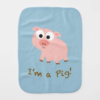 I'm a pig! baby burp cloths