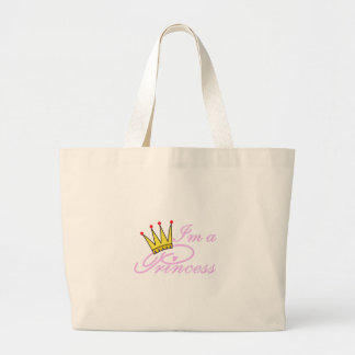 I'm A Princess Large Tote Bag
