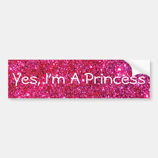I'm a Princess Pink Sparkly Glittery Glam Cute