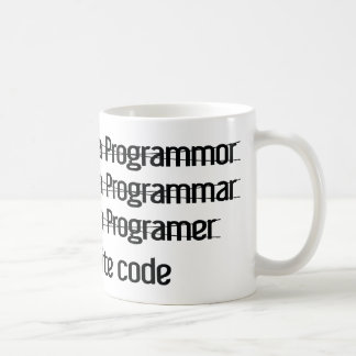I'm A Programer. I Write Code Basic White Mug