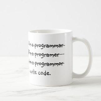 I'm a programmar I write code Basic White Mug