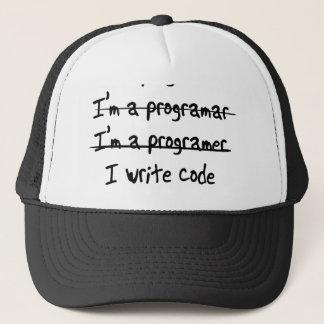 I'm a Programmer. I write code Trucker Hat
