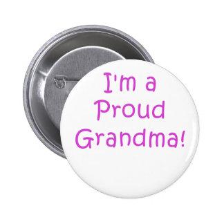 Im a Proud Grandma 6 Cm Round Badge