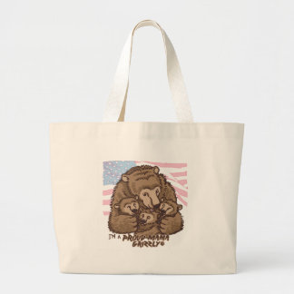 I'm a Proud Mama Grizzly Jumbo Tote Bag