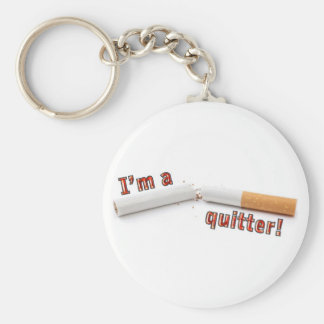 I'm a quitter! basic round button key ring