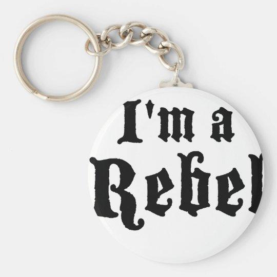 I'm a rebel basic round button key ring