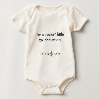 I'm a rockin' little tax deduction. baby bodysuit