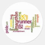 I'm a Runner Words Round Sticker