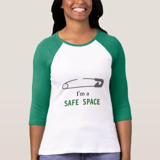 """""""I'm a SAFE SPACE"""", Safety Pin T-Shirt"""