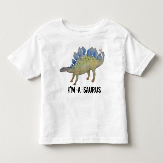 """I'm-a-Saurus"" Blue and Green Dinosaur Kids' Tee"