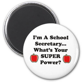 I'm a School Secretary 6 Cm Round Magnet