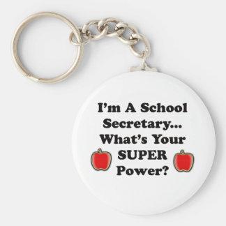 I'm a School Secretary Basic Round Button Key Ring