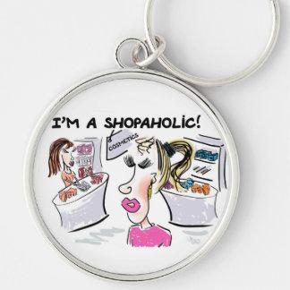 I'm a shopaholic! key ring