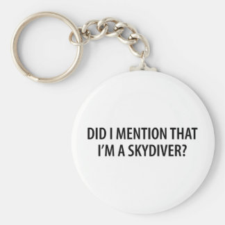 I'm A Skydiver Basic Round Button Key Ring