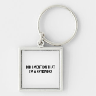 I'm A Skydiver Silver-Colored Square Key Ring